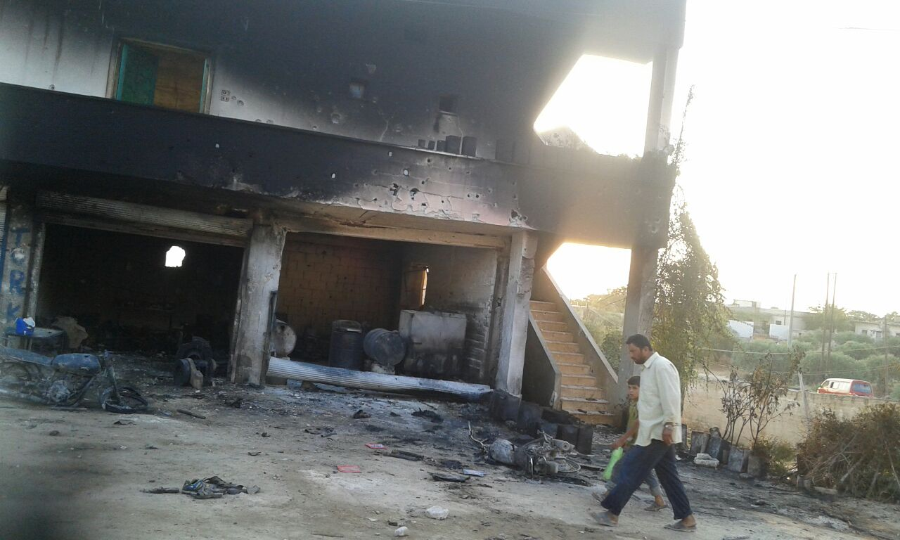 Ten civilians reportedly died when this fuel station was caught in a US airstrike on July 28 2015 (via SN4HR)