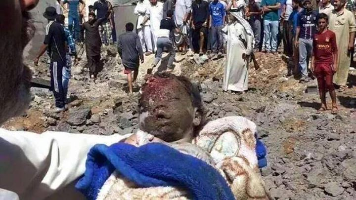 Child reportedly killed in devastating coalition strike on Hwaija June 3 2015 (Iraqi Spring)