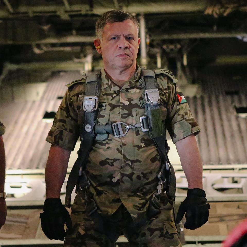 King Abdullah II of Jordan pictured in Air Force combat uniform, after the murder of pilot Moaz al-Kasasbeh by Islamic State (Hashemite Kingdom of Jordan)