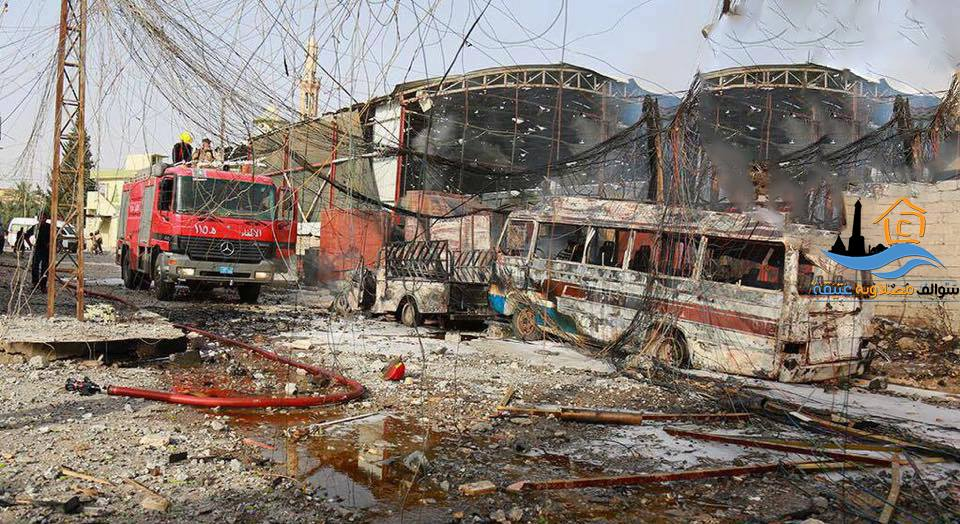 Aftermath of alleged major coalition strike on Mosul May 21 2015 (via Mosul Atek)