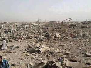 Devastation in Huwaija following coalition strike June 3 2015 (Iraqi Spring)