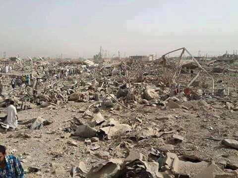 Devastation in Huwaija following coalition strike June 3 2015 (Iraqi Spring)