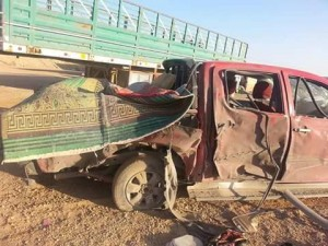 The vehicle allegedly destroyed in a Coalition airstrike on August 8th (Wet News)