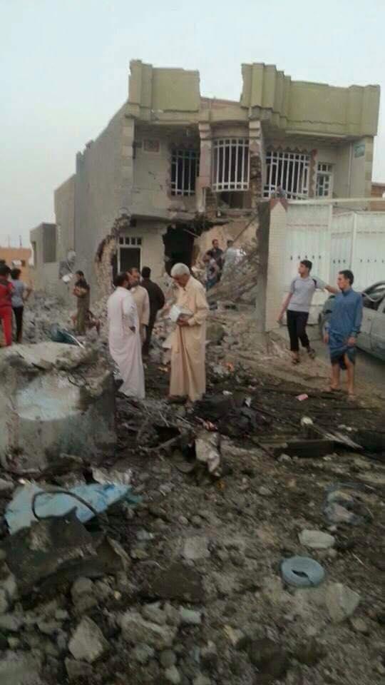 Scene of alleged Coalition strike at Ar Rutbah, Iraq (August 6 2015 (via Iraqi Spring)