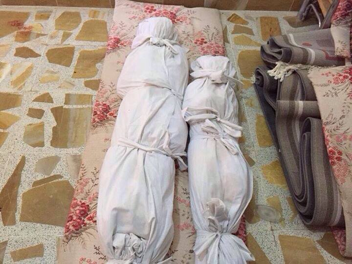 Two of six or more victim of an alleged Coalition strike near Ar Rutbah, Iraq on August 8 2015 (via