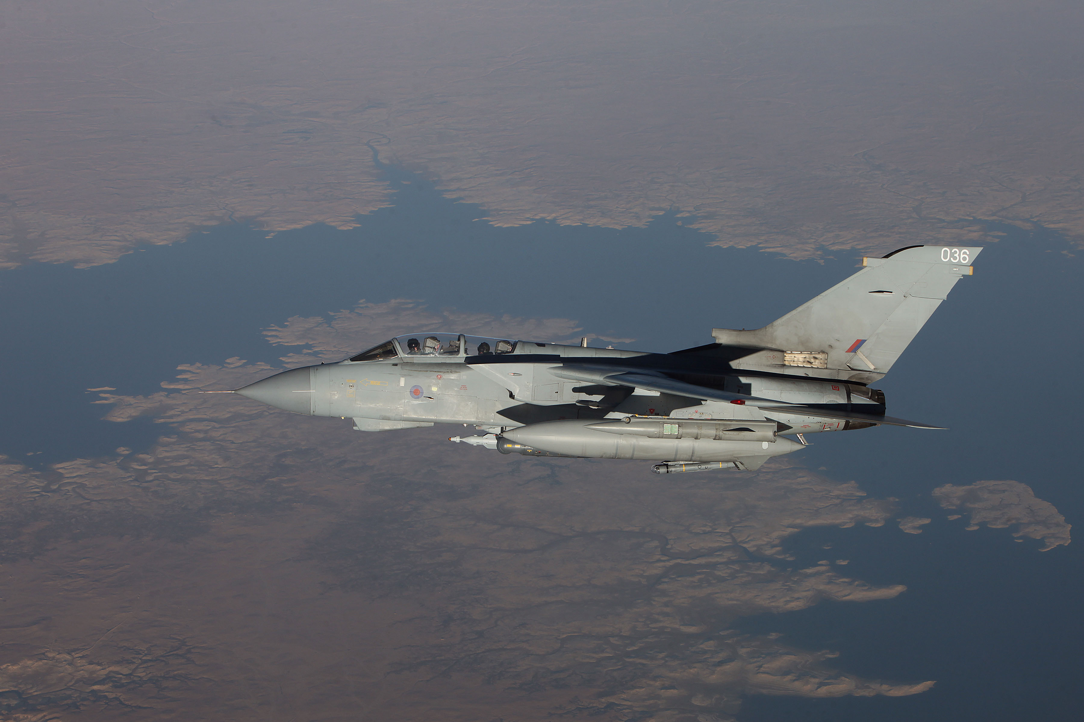 RAF Tornado over Middle East after refueling from a Royal Australian Air Force KC-30A tanker (Australian MoD)