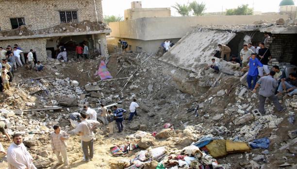 Scene of devastation at Ar Rutbah, July 31 2015 (via Al Araby)