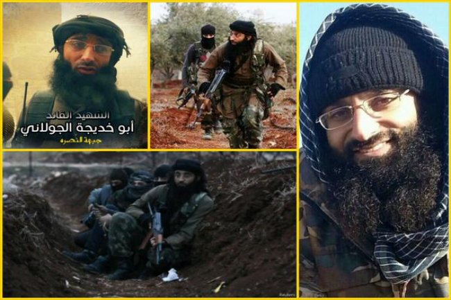 Al Jolani, 'the Emir of Aleppo', wrongly described in one report as a non-combatant