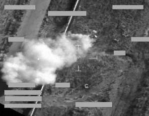 British Tornado airstrike on an ISIL technical, Sept 29th-30th 2014. (UK MoD)