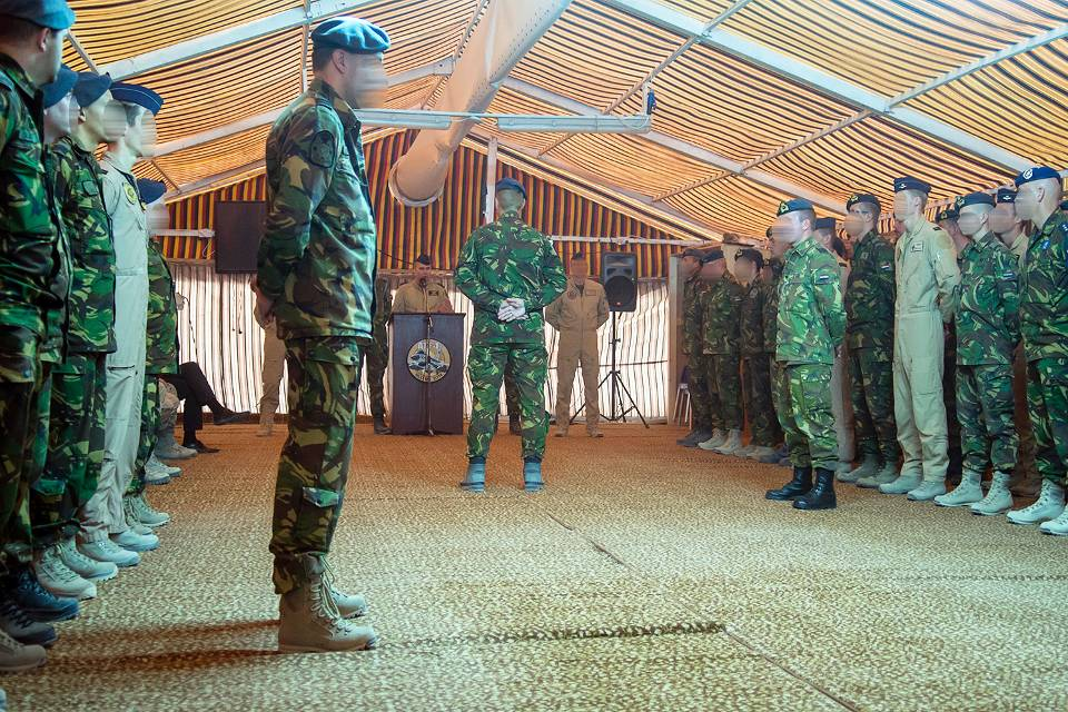Personnel identities are obscured for fear of retaliation, as new commander takes over anti-ISIL operations, January 7th 2015 (Dutch MoD)