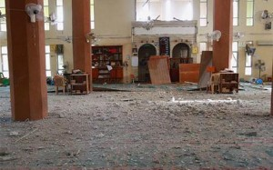Rifai's local mosque, said to have been damaged in lethal Coalition strikes on May 21 2015