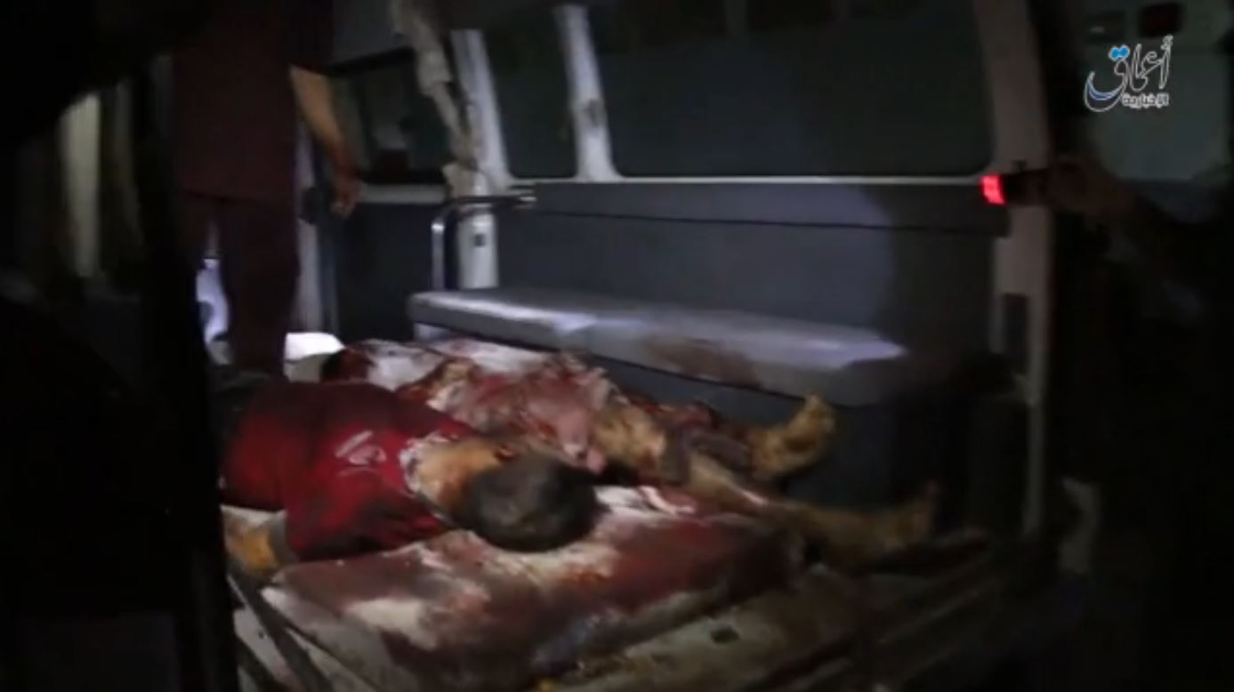 Victims of a reported Coalition drone strike at Hawija, Iraq Sept 17th 2015