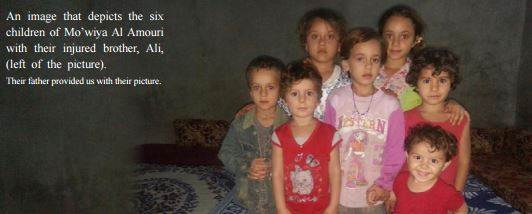 A family photo showing 6 of 7 children killed in a likely US airstrike August 11 2015 (SN4HR)