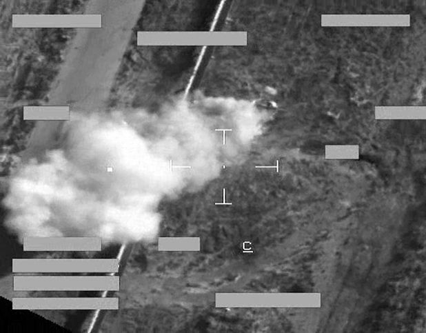 The first British airstrike in Iraq, September 30th 2014 (MoD)