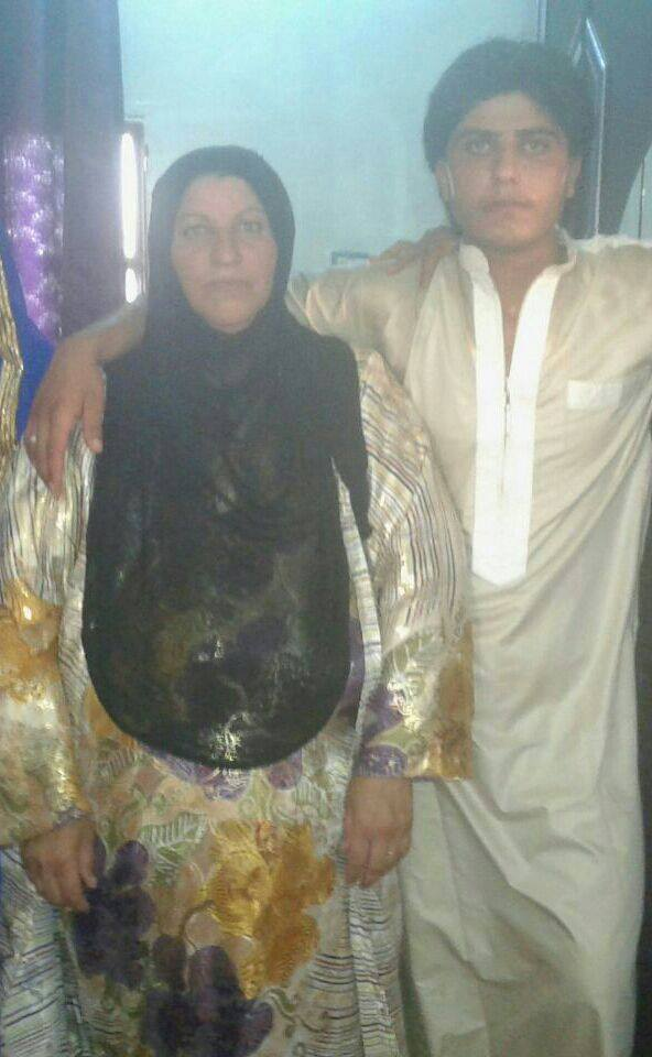Mother and son Wassima and Shuja, killed in a reported Coaltion strike November 10th 2015