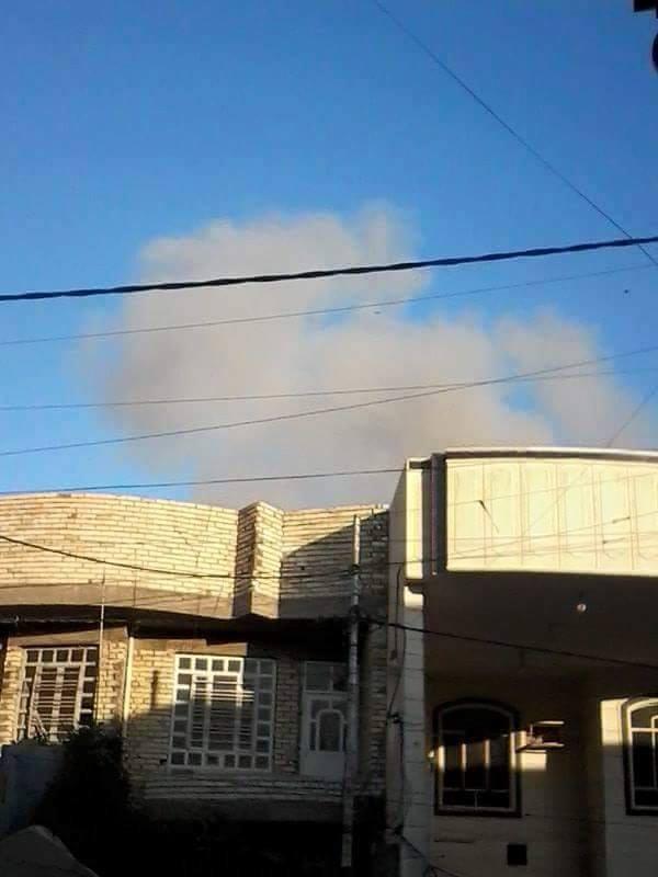 Scene of reported Coalition strike at Fallujah December 7th which killed a child (via Al Fallujah News)