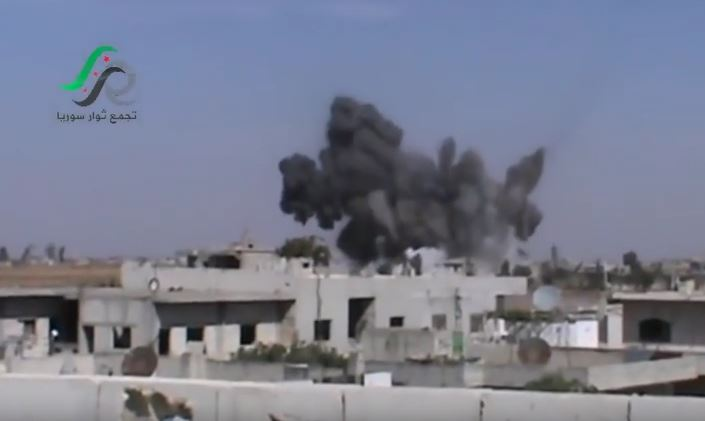 The moment a Russian missile hit al Ghantu, Oct 15th 2015