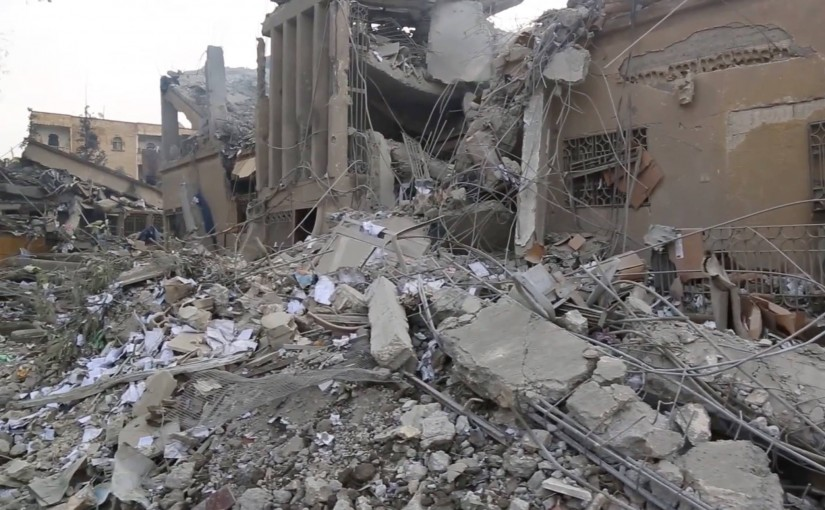 Aftermath of a Coalition airstrike near Raqqah, Syria January 5th 2016, which may have killed three civilians (via Raqqah Is Being Slaughtered Silently)