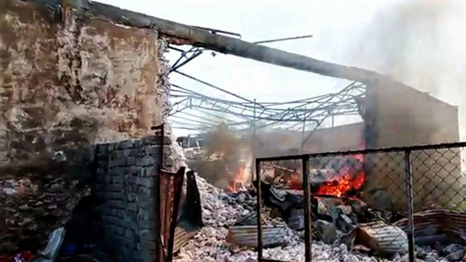The Al Najmawi flour mill in eastern Mosul, destroyed in alleged Coaltion strike March 31st (via NRN News)
