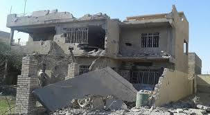 A Ramadi home allegedly destroyed in a lethal Coalition strike February 6 2016 (via Yaqen)