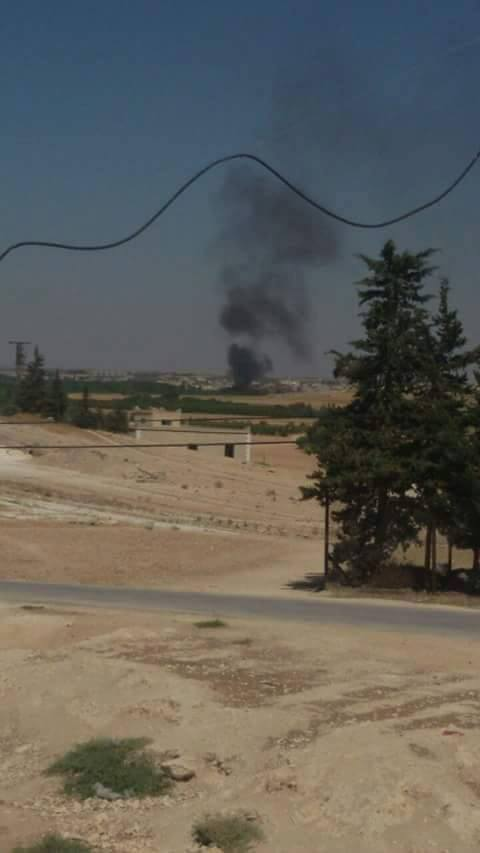 An apparent image of the July 28th strike on al Ghandoura (via Tokhar )