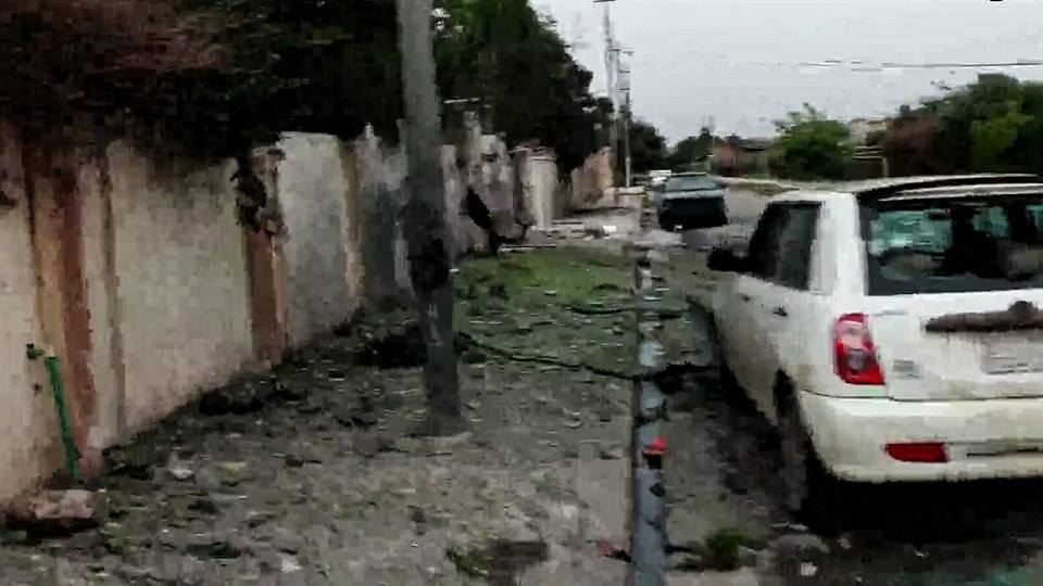 Damaged vehicles following a rocket strike on west Mosul March 26th (via NRN News)