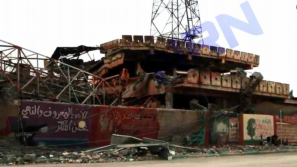 One of at least four telephone exchanges destroyed in co-ordinated strikes on Mosul on April 9th (via NRN News)
