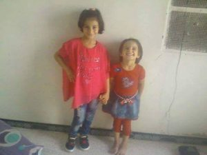 Aya and Judy al Qaim - among at least 26 victims of a Russian or Coalition strike on December 21st 2016 in Raqqa (via Palmyra Media Center)