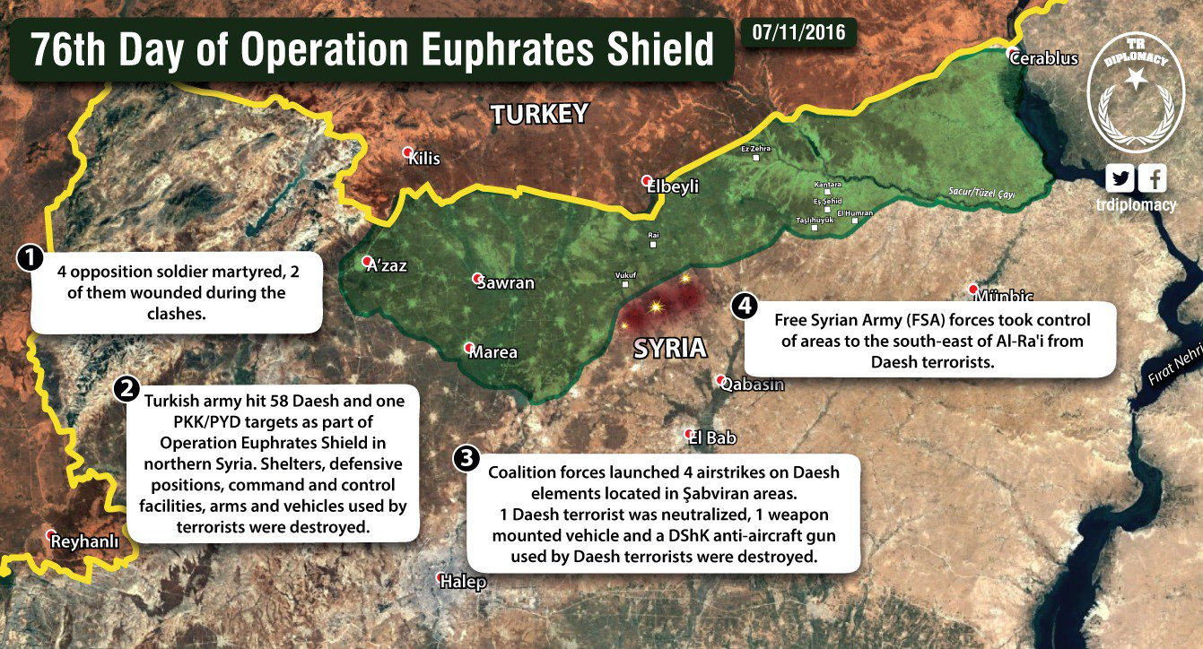 A map issued by the Turkish military November 7th showed its forces to be fighting just north of al-Qabasin