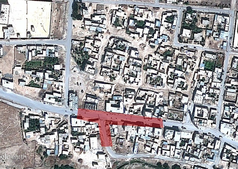 Amnesty satellite analysis of a Coalition airstrike at al Ghandour in July 2016, which likely killed 28 or more civilians
