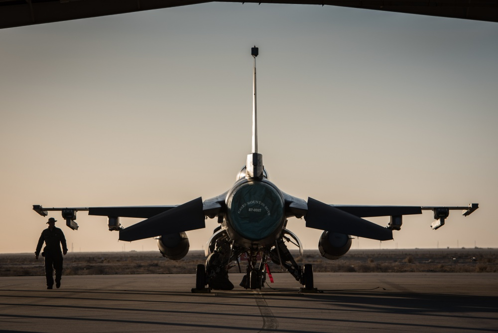 Air Force F-16 Fighting Falcons from the Vermont Air National Guard join the fight against ISIL, Dec 10th.