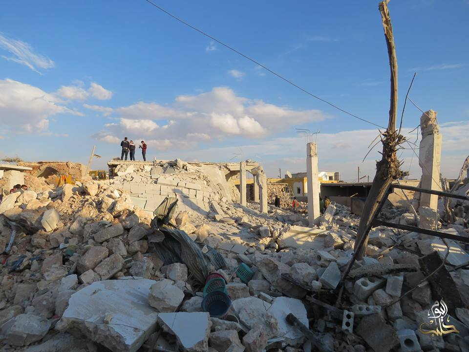 The aftermath of an alleged Russian airstrike on Balto, Aleppo, Nov 16th (via Step)