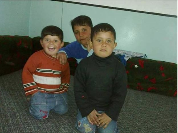 The children of Suleiman al Daher, among at least 78 civilians reported killed in a US airstrike on al Tokhar on July 18th-19th 2016