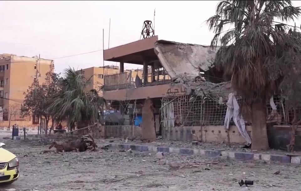 Destruction in al Tabaqa February 4th 2017, following a reported Coalition raid (via Raqqa is Being Slaughtered)