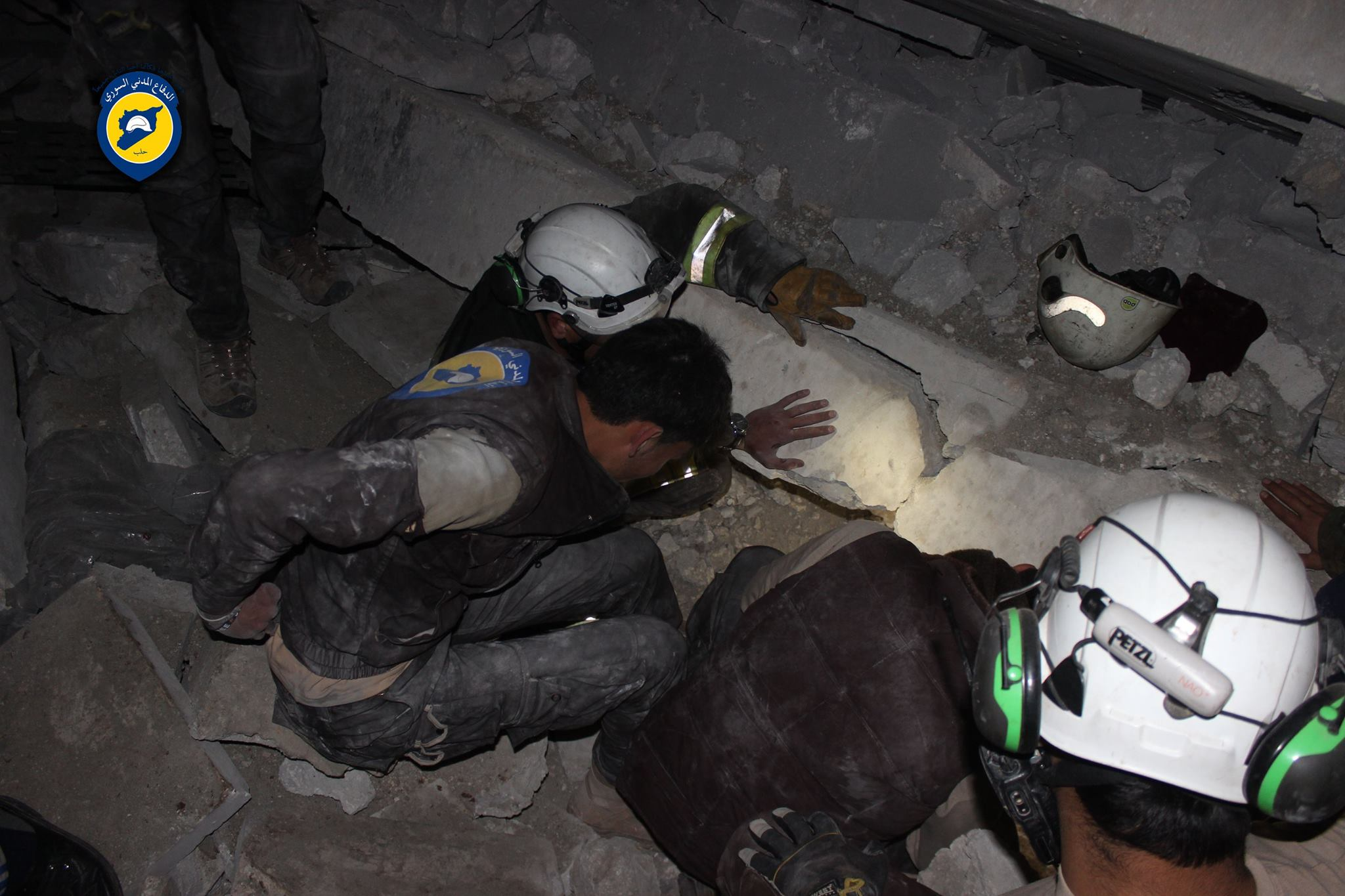 White Helmets Aleppo led the rescue efforts at al Jina