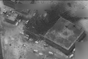 The Pentagon released an afterjstrike image which it claimed showed it hadn't struck the mosque