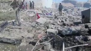The aftermath of alleged Coalition airstrikes on Tal-Afr neighborhood (via Iraqi Spring Media Center)